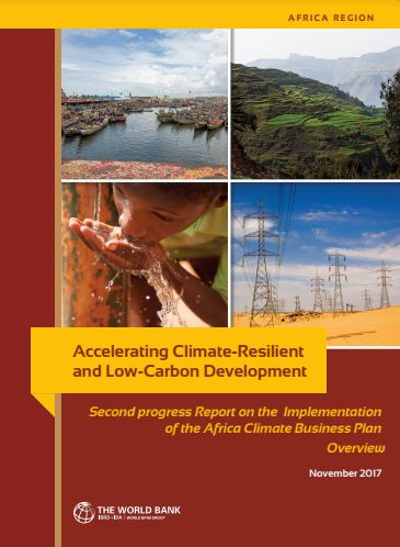 Accelerating climate-resilient and low-carbon development : second progress report on the implementation of the Africa climate business plan - overview
