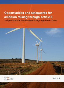Opportunities and safeguards for ambition raising through Article 6: the perspective of countries transferring mitigation outcomes