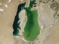 Chunk of Aral Sea, one of the largest lakes, dries up