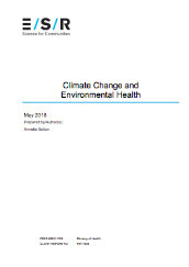 Climate change and environmental health
