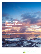 Climate change impacts on extreme weather