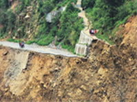 Rains, landslides obstruct traffic on highways in Uttarakhand