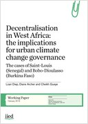 Decentralisation in West Africa: the implications for urban climate change governance