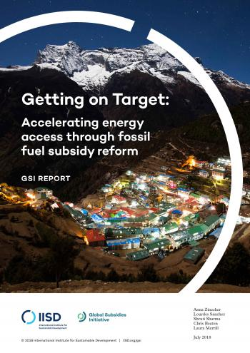 Getting on target: accelerating energy access through fossil fuel subsidy reform
