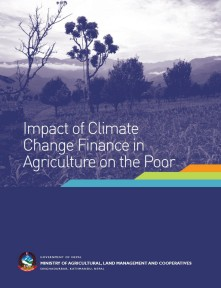 Impact of climate change finance in agriculture on the poor