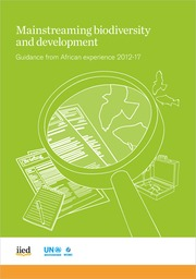 Mainstreaming biodiversity and development: Guidance from African experience 2012-17