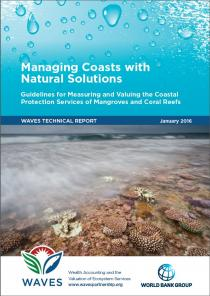 Managing coasts with natural solutions: guidelines for measuring and valuing the coastal protection services of mangroves and coral reefs