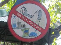 SPCB carries out anti-polythene drive