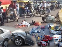 Road accidents claim 35 lives in state everyday!