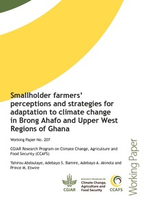 Smallholder farmers' perceptions and strategies for adaptation to climate change in Brong Ahafo and Upper West Regions of Ghana