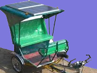Solar-powered auto to promote clean energy