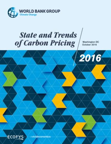 State and Trends of Carbon Pricing 2016