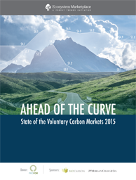 Ahead of the curve: state of the voluntary carbon markets 2015