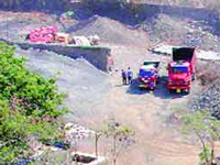 Illegal stone mining still on at Tuem Electronic City