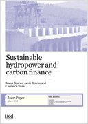 Sustainable hydropower and carbon finance