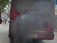 Polluting buses leave road users fuming