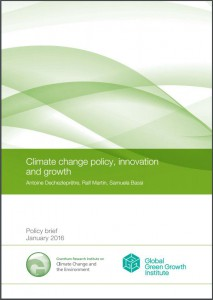 Climate change policy, innovation and growth