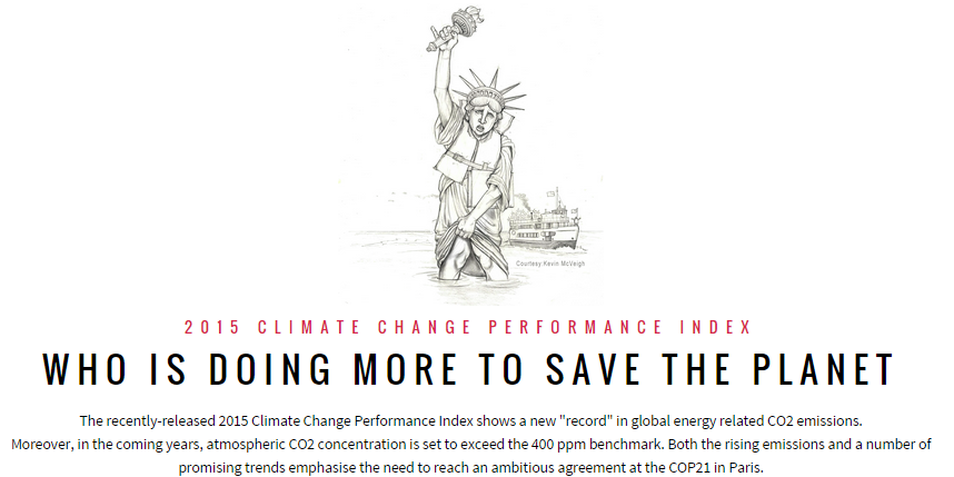 Who is doing more to save the planet - 2015 Climate Change Performance Index