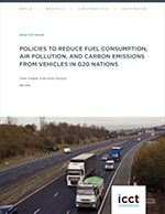 Policies to reduce fuel consumption, air pollution, and carbon emissions from vehicles in G20 nations