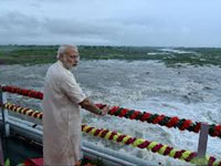PM launches irrigation project in Gujarat, thanks farmers