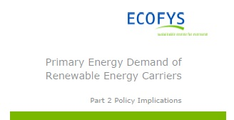 Primary energy demand of  renewable energy carriers