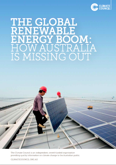 The global renewable energy boom: how Australia is missing out
